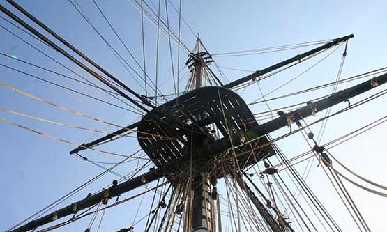 Das Charente Seeschiff Hermine
