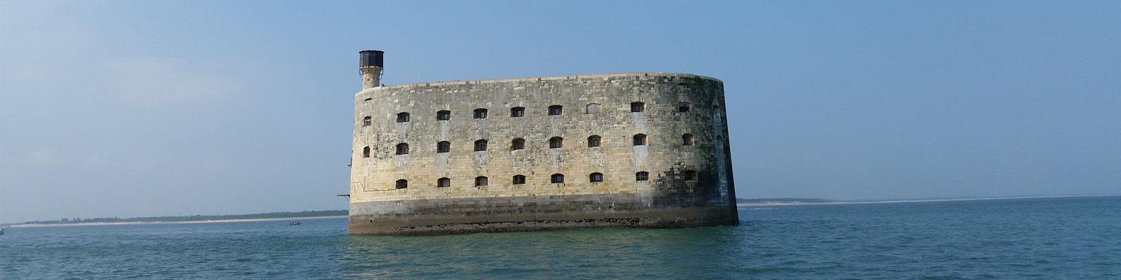 paysage fort boyard près camping île Ré