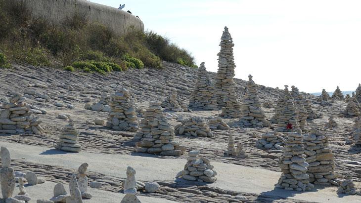 Felsen in der Nähe von Île Ré Campingplatz