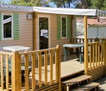 camping rent mobile home for 6 islands of re